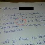 Brief einer Deutschlehrerin an eine Mutter