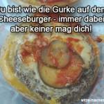 Wie eine Cheeseburgergurke - keiner mag dich!